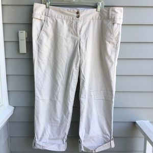 LANDS'END Roll Tab CRopped Pants Sz.16